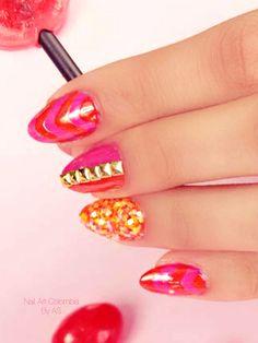 Divertidas Nail Art, Nails, Painting, Beauty, Fingernail Designs, Colombia, Finger Nails, Beleza, Ongles