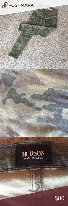Camo Hudson super skinny jeans New without tags! These Camo Hudson super skinny jeans are light weight and a great staple piece! Hudson Jeans Jeans Skinny