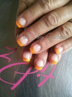 "tiPz by Andrea -	Orange with ""Fire"" sparkles"
