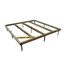 8x6 Shed base with metal spikes which sink straight into the ground for easy installation. Creating a level base for your shed. Only suitable for use with Forest sheds of the corresponding size.