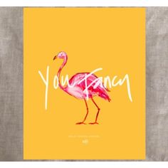 Ashley Brooke Designs   this 8x10 Flamingo print is a great reminder of your fancy-ness.