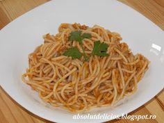 Spaghete cu ton Pizza, Cooking Recipes, Ethnic Recipes, Food Ideas, Chef Recipes, Recipes