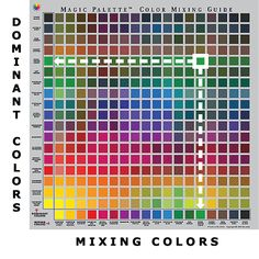 Free Color-Mixing Charts | Magic Palette™ Color Mixing Guides :: Color Wheel Company