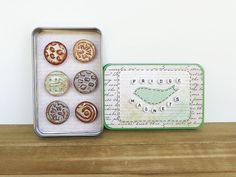 Items similar to Ceramic Magnet Set, Rustic Clay Fridge Magnet Set of Housewarming Gift, Stocking Stuffer on Etsy Handmade Stamps, Stoneware Clay, Ceramic Artists, Stocking Stuffers, Mud, House Warming, Magnets, Buttons, Ceramics