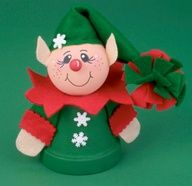 Reindeer Clay Pot Craft | Clay Pot Shelf Sitter Elf ( michaels.com )