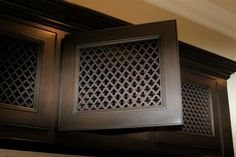 Shop our MASSIVE inventory of high quality, decorative vent covers for your floor, wall, and ceilings. Custom Options Available. Door Glass Inserts, Window Inserts, Diy Cabinet Doors, Cabinet Decor, Custom Kitchen Cabinets, Diy Cabinets, Interior Styling, Interior Decorating, Decorating Tips