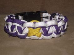 2 Toned Paracord Bracelet for ADHD/ADD Support:  purple symbolizes many things so this bracelet could represent many topics