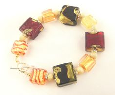 Genuine Venetian and Murano Glass bead by WimberleyTreasures, $59.00