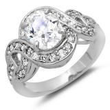 Share 3.50 CT Platinum Plated Ladies Oval & Round Cut White Cubic Zirconia CZ Engagement Bridal Ring (Available in size 6, 7, 8) - Dazzling Rock #https://www.pinterest.com/dazzlingrock/