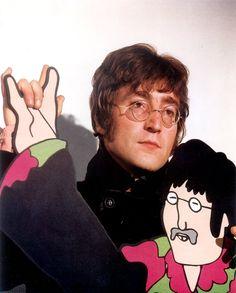 "The Beatles John Lennon Yellow Submarine Photo Print14 x 11"""