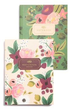 Vintage-inspired Blossoms Notebook Set http://rstyle.me/n/t7ndabh9c7