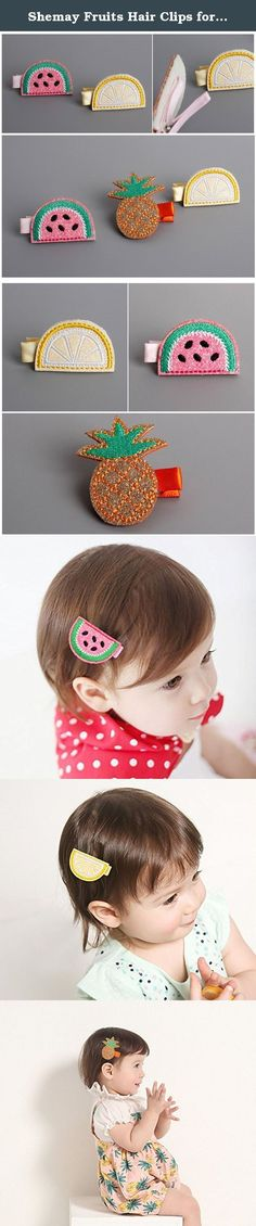 Shemay Fruits Hair Clips for Toddler Girls Watermelon Lemon Pineapple Barrettes for Baby Girls. Shemay, with more than 10 years experiences,offer kinds of quality handmade hair accessories Our products are popular in Europe, Southeast Asia more than 60 countries Lowest Price & Fast Shipping & Factory Directly & Superb Quality & Exquisite Workmanship Choose Shemay, choose satification Shemay will transform your choice into motivation, and strive to achieve faster and better! .