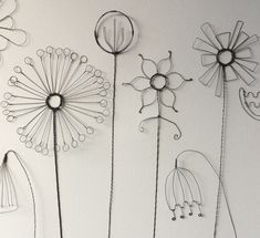 Hand formed wire flower detail