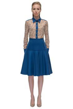 Sapphire Blue, Romantic Shirt-Dress