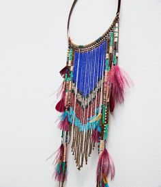Image 2 of LONG ETHNIC FEATHER NECKLACE from Zara