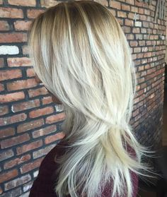 80 Cute Layered Hairstyles and Cuts for Long Hair - - Blonde Layered Hair With Root Fade Long Layered Haircuts, Haircuts For Long Hair, Long Curly Hair, Long Hair Cuts, Cool Hairstyles, Layered Hairstyles, Layer Haircuts, Toddler Hairstyles, Blonde Hairstyles