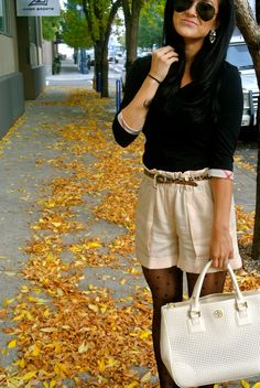 Shorts in the fall…totally a thing! Great ways to use pieces from your wardrobe all year round!