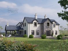 East Of 81 Garvaghy Church Road, Banbridge - Property For Sale Plans Architecture, Farmhouse Architecture, Stone Exterior Houses, Dream House Exterior, House Exteriors, Deco Design, Design Case, Dormer House, Dormer Bungalow