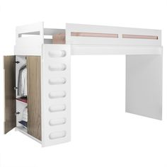 While we discourage monkeying-around after 8pm, the alex loft bed is an invitation for the imagination. Hide in a cave or blast off in a spaceship – just please do it with your inside voice!
