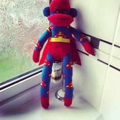 super hero sock monkey