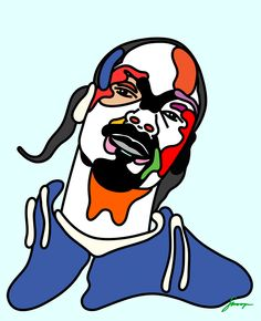 'Rap Face' Snoop Dogg by Magnus Voll Mathiassen — Agent Pekka