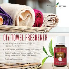Need to freshen up your towels? Give this little trick a try.