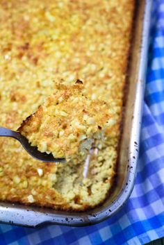 This easy corn pudding recipe is made with fresh corn. Pantry staples and no refined flours or sugars make it a crowd pleaser!