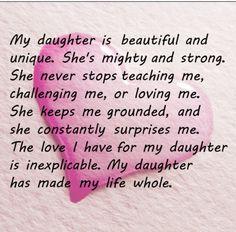 My daughter Rocks life