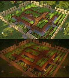 minecraft building ideas I have built a compact farm with 3 levels on those you can plant everything you want but carefully separate the types. Can you build better and what th
