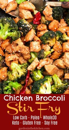 Healthy Asian-style Chicken Broccoli Stir Fry recipe that is free of soy and gluten, also Paleo and approved! Healthy Asian-style Chicken Broccoli Stir Fry recipe that is free of soy and gluten, also Paleo and approved! Stew Chicken Recipe, Easy Crockpot Chicken, Stir Fry Recipes, Cooking Recipes, Wok Recipes, Best Paleo Recipes, Cooking Videos, Cooking Tools, Side Dishes