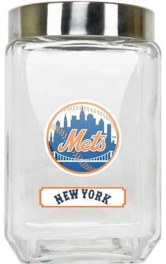 NEW YORK METS GLASS CANISTER - LARGE