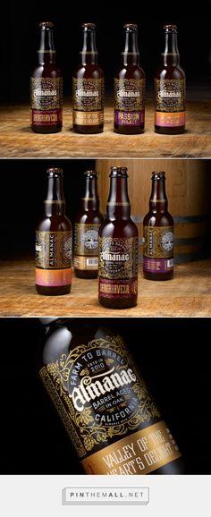Almanac Beer Co. packaging design by Chad Michael Studio - http://www.packagingoftheworld.com/2017/08/almanac-beer-co.html - created via https://pinthemall.net