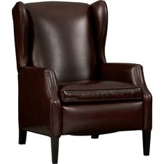Sinclair Leather Recliner in Chairs | Crate and Barrel  a little classic, but . . .