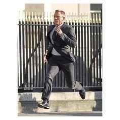 "Daniel Craig filmed a scene on the set of his upcoming James Bond film, ""Skyfall,"" in London"