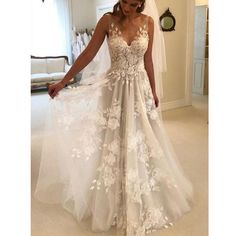 Wedding Dress For Cheap, Wedding Dress V-neck, Backless Wedding Dress, Lace Wedding Dress, V Neck Wedding Dress Wedding Dresses 2018 Wedding Dress Empire, Wedding Dress Tea Length, Open Back Wedding Dress, V Neck Wedding Dress, V Neck Prom Dresses, Applique Wedding Dress, Perfect Wedding Dress, Tulle Wedding, Best Wedding Dresses