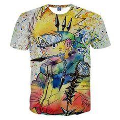 Men's T Shirt 3D Dragon Ball Print T-Shirt Ripndip Men Tee Shirt Palace Cool Top Clothing