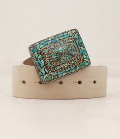 Sandal@ Turquoise Mosaic Belt