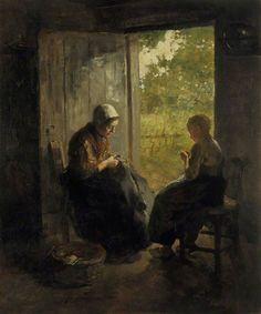 arcadiainteriorana: Johan BusyAlbertus Neuhuys (Dutch, 1844-1914) Oil on canvas, 98 x 81.3 cm, 1872-1892.National Galleries of Scotland
