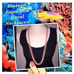 """3 Vtg Natural Pink Angel Skin Coral Bead Necklaces Set of 3 Vintage Long Natural Pink Angel Skin Coral Bead Necklaces! Pink, genuine angel skin coral beads from 1930's w/ white coral & gold tone spacer beads. Each necklace hangs approx. 17 1/2"""" & the beads measure approx. 4-5mm in diameter. Beads are on a continuous strand & total weight 3 pieces is approx 60.02 grams. Un-dyed NATURAL coral is becoming hard to find because of the coral reef protection laws. Tested positive for coral using…"""
