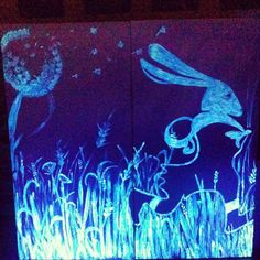 Blacklight art by Paola Francesca Denti ( Clo'eT)   https://www.facebook.com/cloet.ambulatoriodeicapricci.9?fref=ts