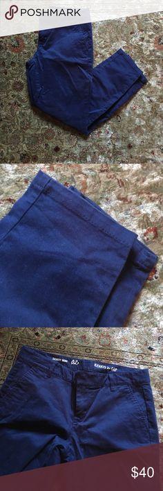 "Khakis by GAP Navy khakis by Gap. Product line is called ""Skinny Mini"" 02P. Worn twice. Slim leg GAP Pants Skinny"