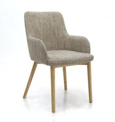 Sidcup Tweed Dining Chair The Sidcup collection of chairs in striking Duck Egg Blue Stripe, Natural Tweed or Deep Rich Vintage Leather Match are sure to create a stylish atmosphere to any dining experience. Simple lines with softened edges offers pure relaxation, whilst the clean look signifies a sophisticated sense of style.  Color:	Tweed Item Size:H 840 W 510 D 640