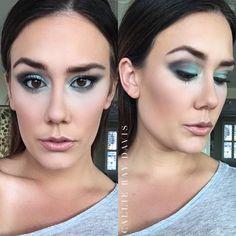 Teal Smoky Eye #limelightbyalcone #makeup #mua #eyes