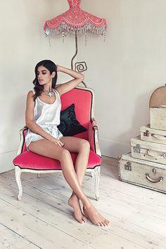 Coco Silk Vest and Short - Womens silk pyjamas, perfect bride nightwear.