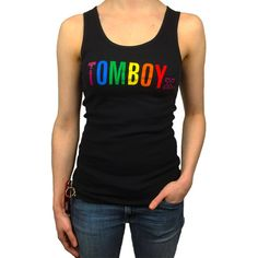 TomboyX Pride Tank - Black. I love this!