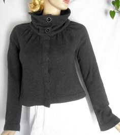 Route 66 Dark Gray Unique and Very Stylish Sweater Size XS Ships Free in the USA #Route66 #CowlNeck