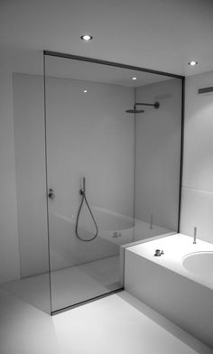 Partition to the bathroom, we realize the partition in the shower - Badezimmer -