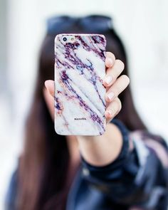Purple Marble iPhone Case by Madotta | This unique marble design is now available for iPhones and some Samsung Galaxy S devices. Printed in the UK. International shipping available. Fashion iPhone 7 Cases #madotta Shop now at https://madotta.com/collections/marble-iphone-cases/?utm_term=caption+link&utm_medium=Social&utm_source=Pinterest&utm_campaign=IG+to+Pinterest+Auto