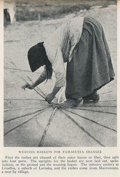 Cyprus 1928 basket weaving