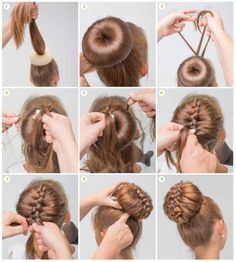 Bun hairstyles are convenient for bad hair days and good hair days, Bun hairstyl. - Bun hairstyles are convenient for bad hair days and good hair days, Bun hairstyles are convenient f - Dance Hairstyles, Braided Hairstyles, Trendy Hairstyles, Hairdos, Donut Bun Hairstyles, Wedding Hairstyles, Gymnastics Hairstyles, Amazing Hairstyles, Step By Step Hairstyles